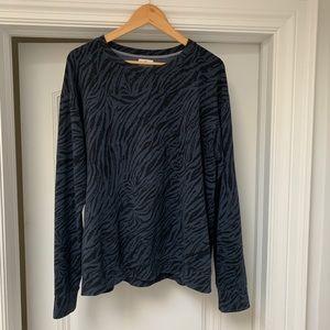 Sundry Blue Leopard Sweater - Size L
